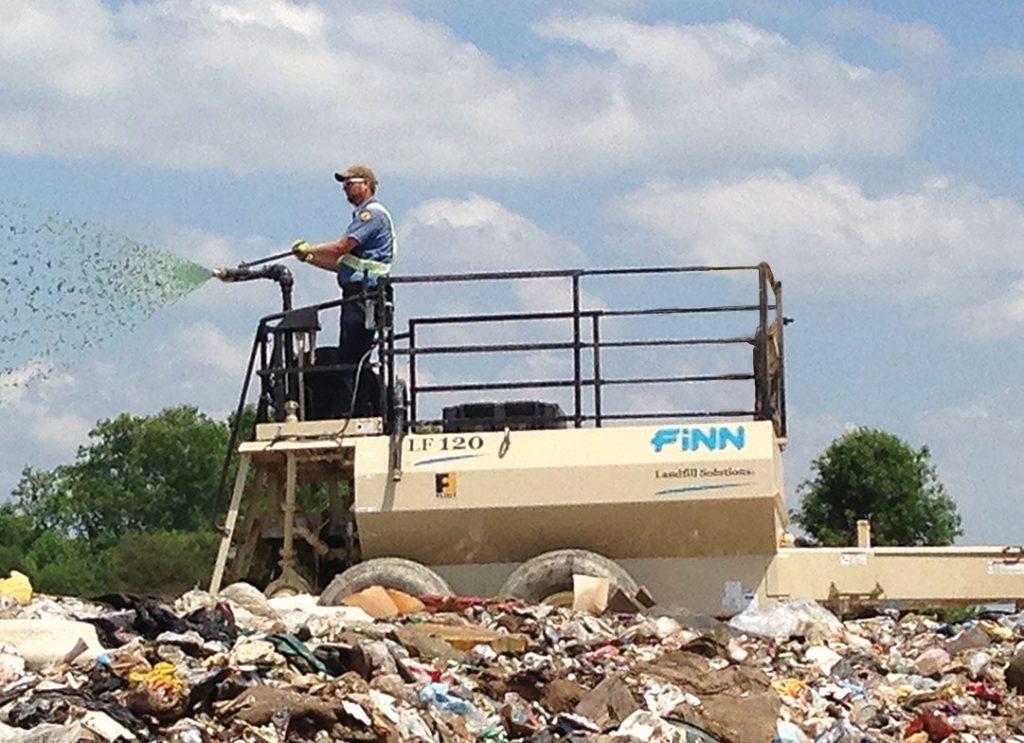 FINN LF120 Landfill Spraying by One Operator